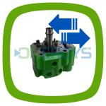 Exchange cylinder head Jenbacher 1247731 (green) original