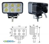 Arbeitsleuchte LED 18W / 1320 Lumen / eckig