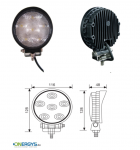 Working lamp LED 18W / 1320 Lumen / round