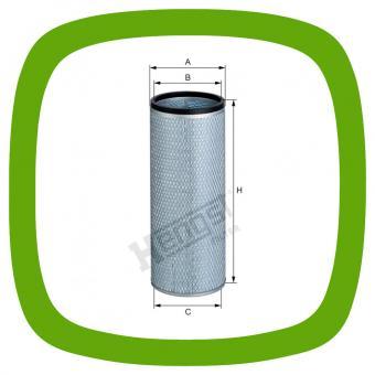 Luftfilter-Sicherheitseinsatz Hengst E1650LS D496