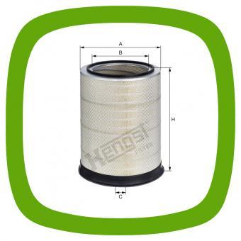 Luftfilter-Einsatz Hengst E2017L D686