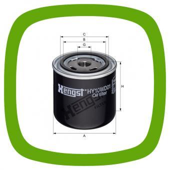 Öl-Anschraubfilter Hengst HY10WD01