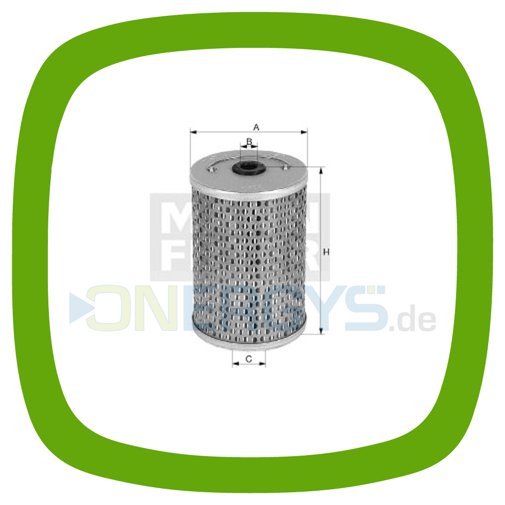 Fuel filter MANN P 1018/1 on